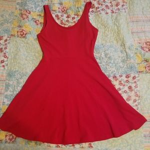 Red small Express fit and flare dress